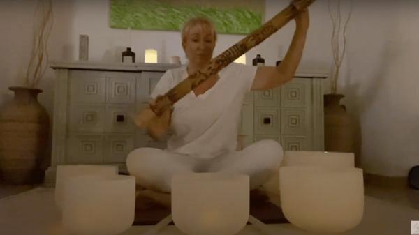 Strawberry Full Moon Crystal Bowl Sound Meditation